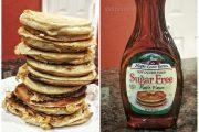 Protein Pancakes with Sugar Free Syrup - Kodiak Cakes